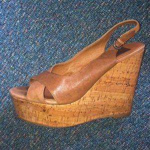 Steve Madden laminated wedge heels